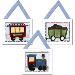 Train Cars Wall Hangings