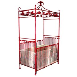 Dinosaur Canopy Iron Crib  sc 1 st  aBaby.com & Buy Wrought Iron Metal Crib Set for Baby | Vintage | Antique ...