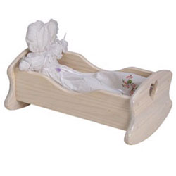 Handcrafted Doll Cradle