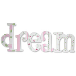 Dream In Pink Whimsical  Letters