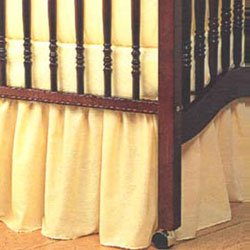 Portable Crib  Solid Dust Ruffles