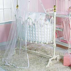 Lilac Lace Dynasty Cradle Bedding