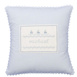 Sailboat Baby Pillow