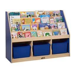 Colorful Essentials 3 Compartment Storage Book Display