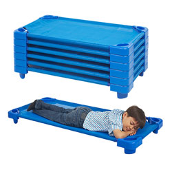Set of 6 RTA Stackable Kiddie Cots