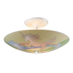 Unicorns Flush Mount Light