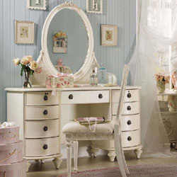 Emma\'s Treasures Vanity Desk and Mirror by Lea Furniture