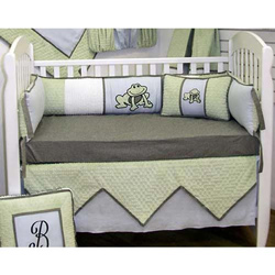 Frog Fantasy Crib Bedding Set