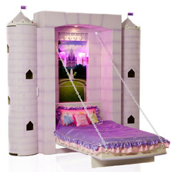 Kids Princess Castle Wall Bed