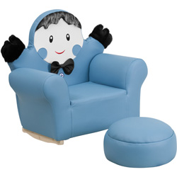 Blue Little Boy Rocker and Footrest