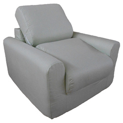 Green Check Chair Sleeper