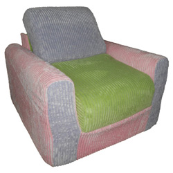 Kid's Multi Chenille Chair Sleeper