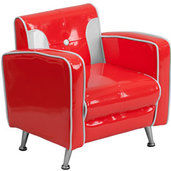 Kids Red and White Retro Chair