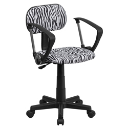 Zebra Desk Chairs With Arms