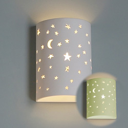 Starry Night Ceramic Cylinder Sconce