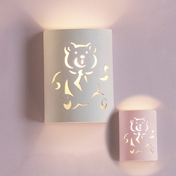 Teddy Bear Ceramic Wall Sconce
