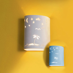 Starry Tropical Island Ceramic Wall Sconce