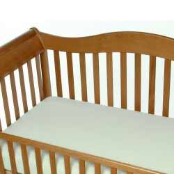 Stay-On Organic Flannel Crib Sheet