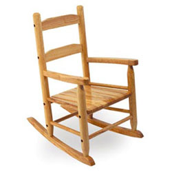 Kid's Slat Rocking Chair