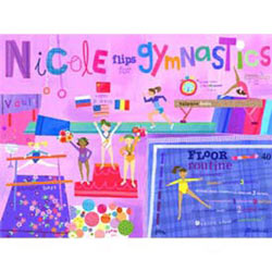 Flipping For Gymnastics Stretched Art