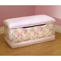 Floral Chenille Toy Box