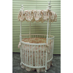 French Toile Round Crib Bedding