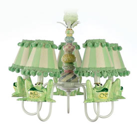 Whimsical Frog Chandelier
