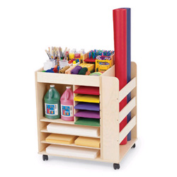 Art Supply Cart