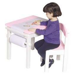 Pink Art Table and Chair Set