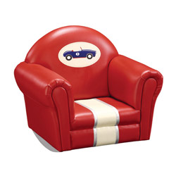 Retro Racers Upholstered Rocker