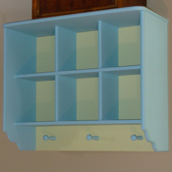 2 Tone Double Wall Shelf