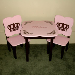 Royal Crown Table and Chair Set