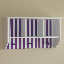 Colorful Stripes Wall Shelf