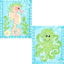 Seahorse and Octopus Wall Art