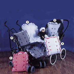 Gingham and Eyelet Carriage Liner