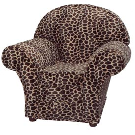 Child's Animal Print Chair