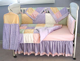 Girls Multi Velvet Crib Bedding