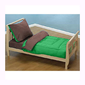 Green & Brown Toddler Bedding Set