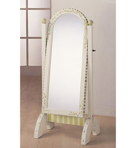 Soft Green Standing Mirror