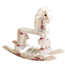 Hand Painted Girls Rocking Horse