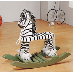Handpainted  Zebra Rocker