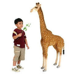 Ride-On Plush Giraffe