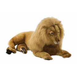 Large Plush Lying Male Lion