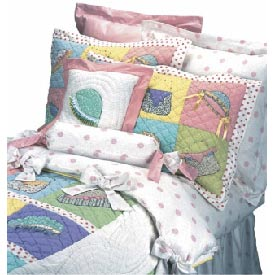 Hats and Purses Twin Bedding