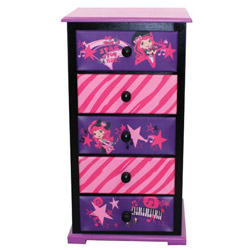 Strawberry Shortcake Rocks 5 Drawer Chest