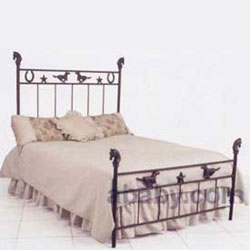 Mustang, Star & Horse Iron Bed