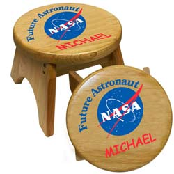 Personalized Future Astronaut Stool