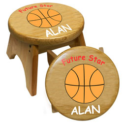 Personalized Future Basketball Star Stool