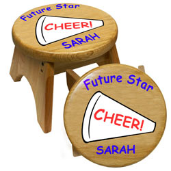 Personalized Cheerleader Stool