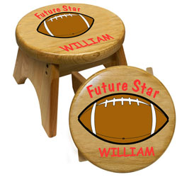 Personalized Football Step Stool